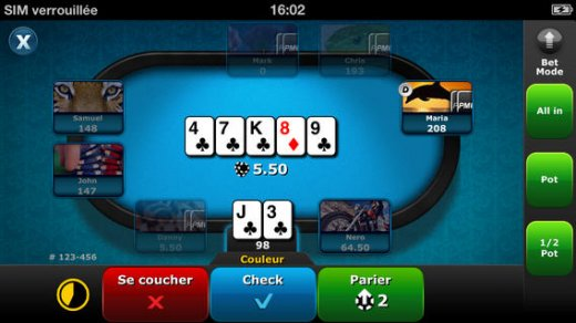 Everest poker pour iphone
