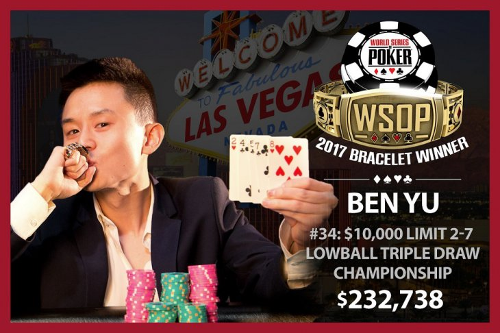 World Series Of Poker : second bracelet pour Ben Yu