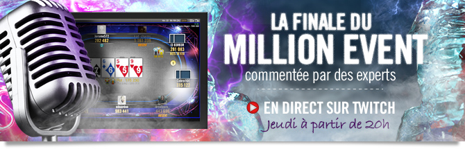 Winamax Series : le final du Million Event en direct sur Twitch
