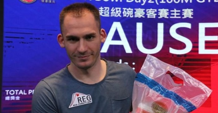 Super High Roller Bowl China : Justin Bonomo chipleader de la table finale