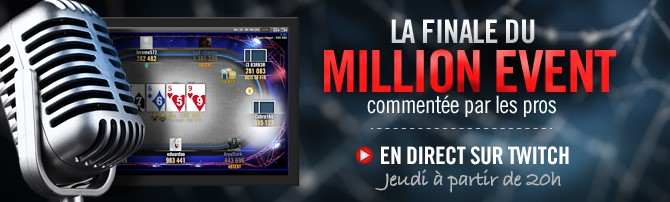 Le final du Million Event des Winamax Series en direct sur Twitch