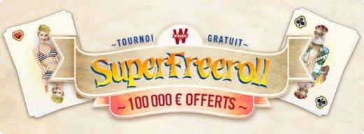 Super Freeroll à 100 000 euros : des tickets tout l'été sur Winamax