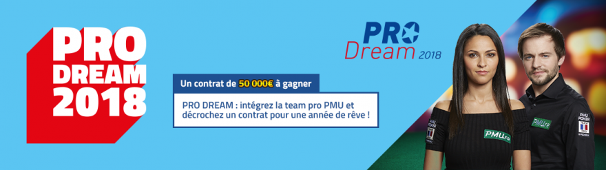 Pro Dream : PMU Poker cherche son nouvel ambassadeur