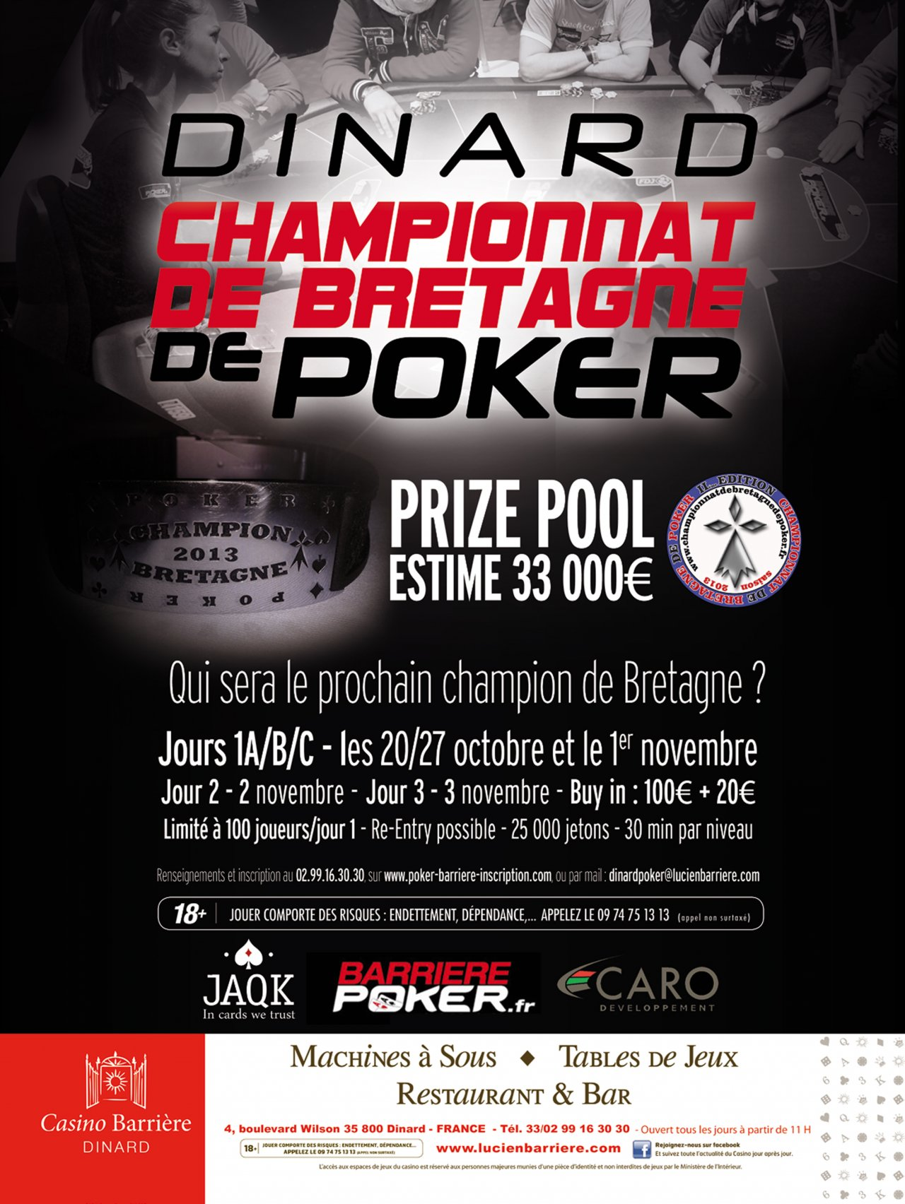 Casino barriere tournoi poker gambling trip