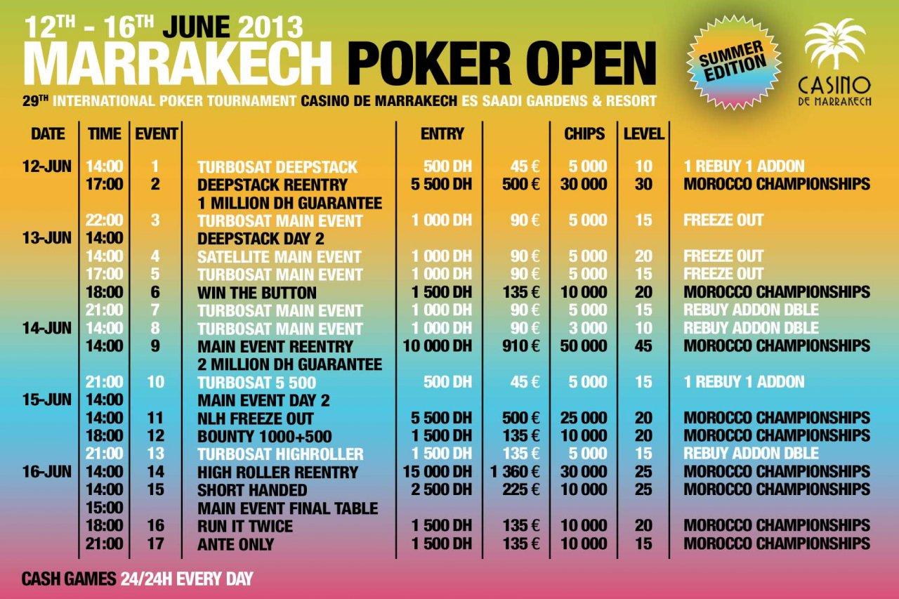 Marrakech poker 2013