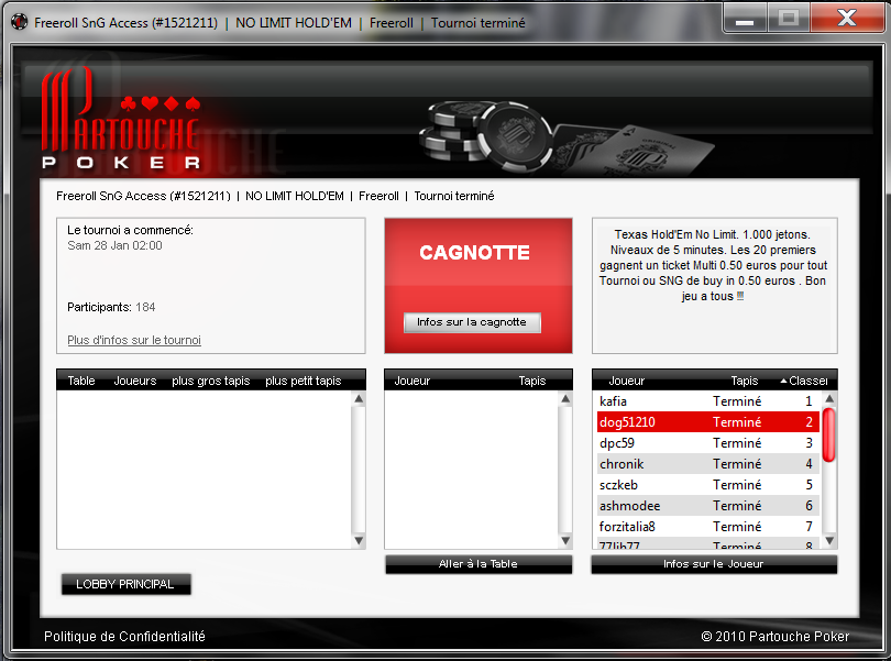 Freeroll SnG ACCESS Place 2/184