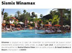 Winamax Sismix