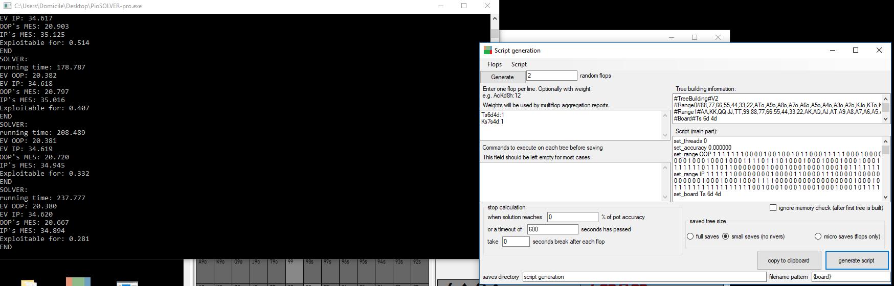 J'utilise PioSolver - CP PioSolver user thread - Page 6
