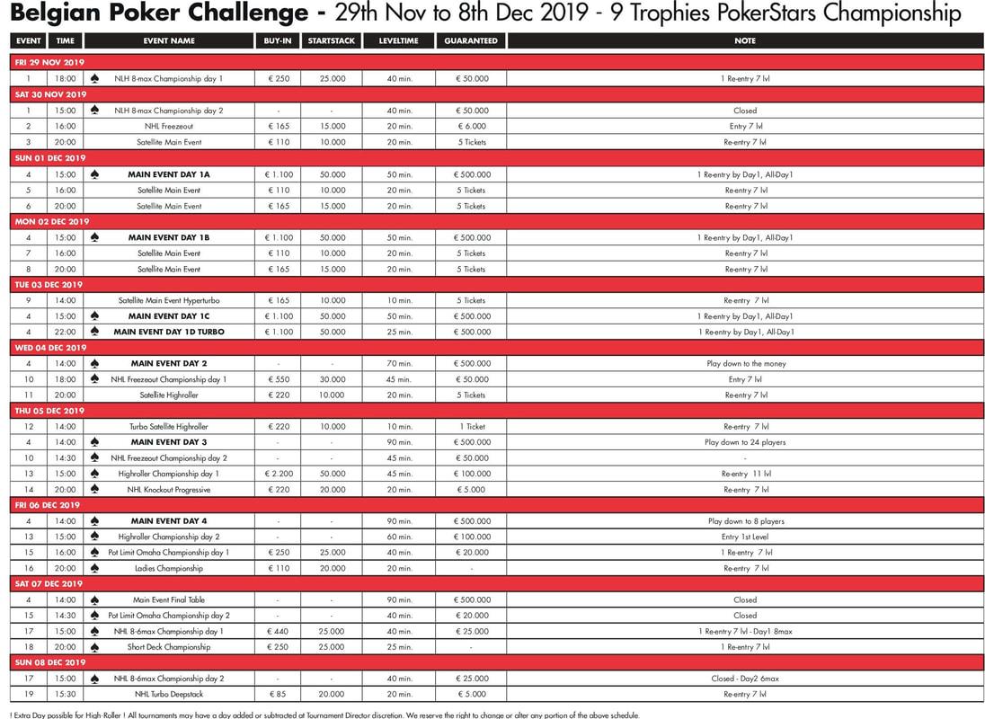 Belgian Poker Challenge - Main Event - DAY 1B