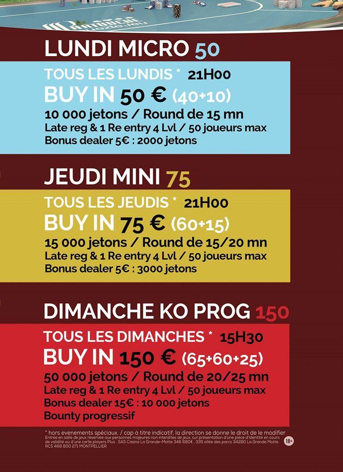 Jeudi Mini 75€