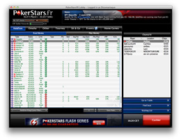 Pokerstars cash-came lobby fouillis