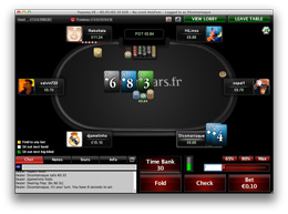 PokerStars cash-game ergonomie table