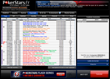 PokerStars tournois lobby