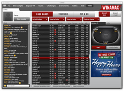 Winamax cash-game lobby