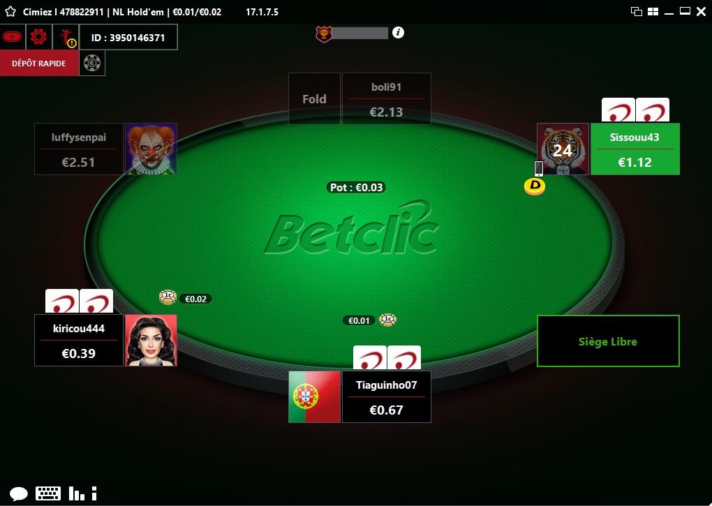 BETCLIC POKER ⭐ 500 € de bonus OFFERTS ! Poker