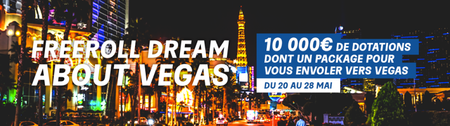 Dream About Vegas : le freeroll de PMU Poker doté de 10 000 €
