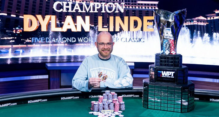 Dylan Linde vainqueur du WPT Five Diamond World Poker Classic