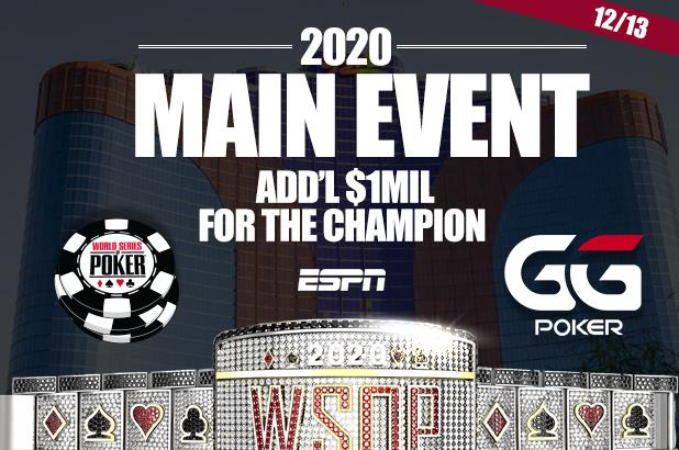 Main Event WSOP 2020