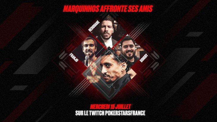 Marquinhos et Doigby à l'honneur d'un sit'n'go caritatif sur PokerStars