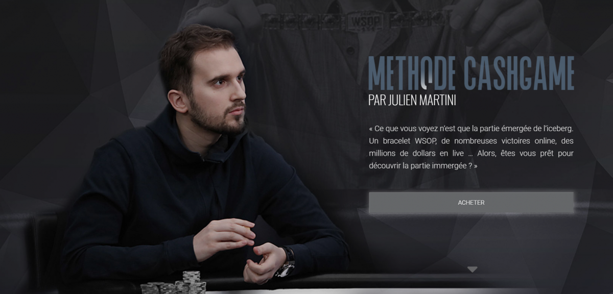 MasterClass : Julien Martini dévoile sa Méthode Cash Game