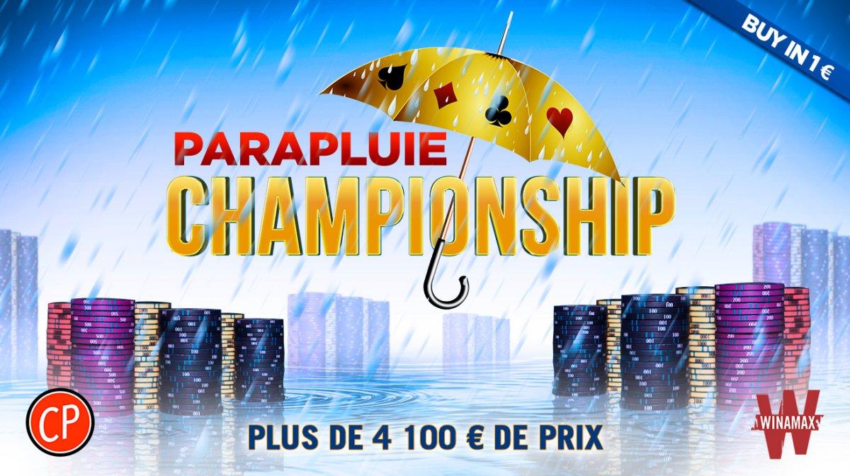 Parapluie Championship : 4 000 € de packages et de tickets à gagner sur Winamax