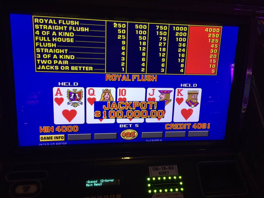 Quinte flush royale Cartwright 1