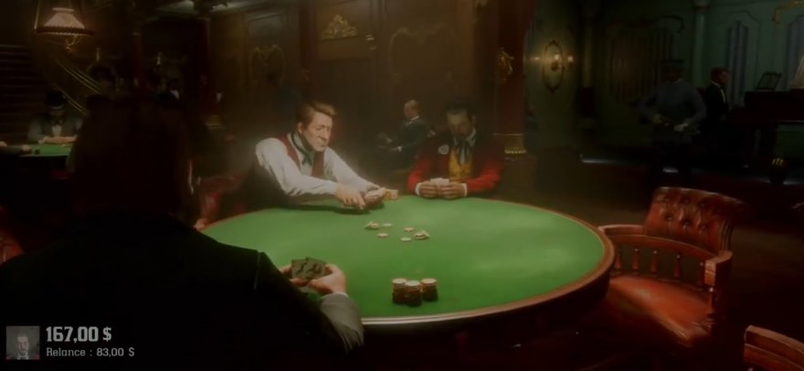 Red Dead Redemption 2 : un bijou de poker de saloon