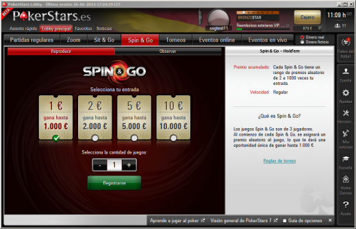 Spin and Go de PokerStars