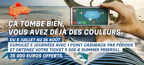 Summer Freeroll : 5 000T€ en jeu chaque semaine sur PMU et partypoker