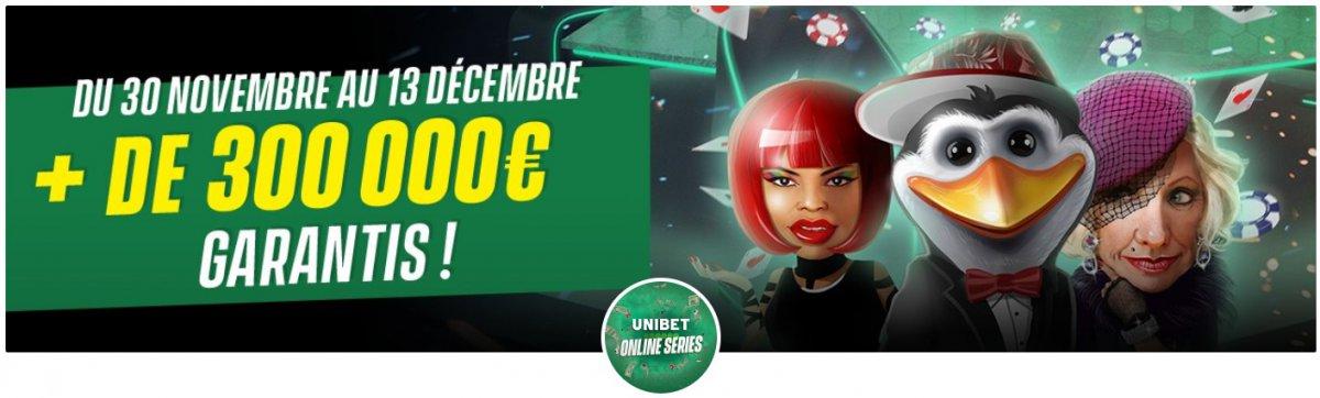 Unibet Online Series : 75 tournois du 30 novembre au 13 décembre