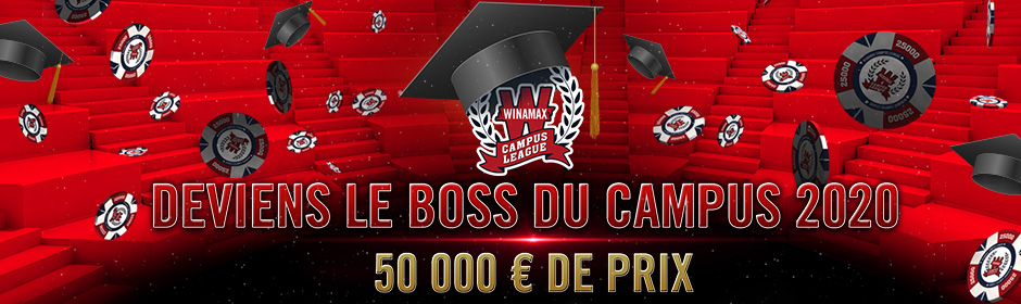 Winamax Campus League : poker distanciel pour les étudiants