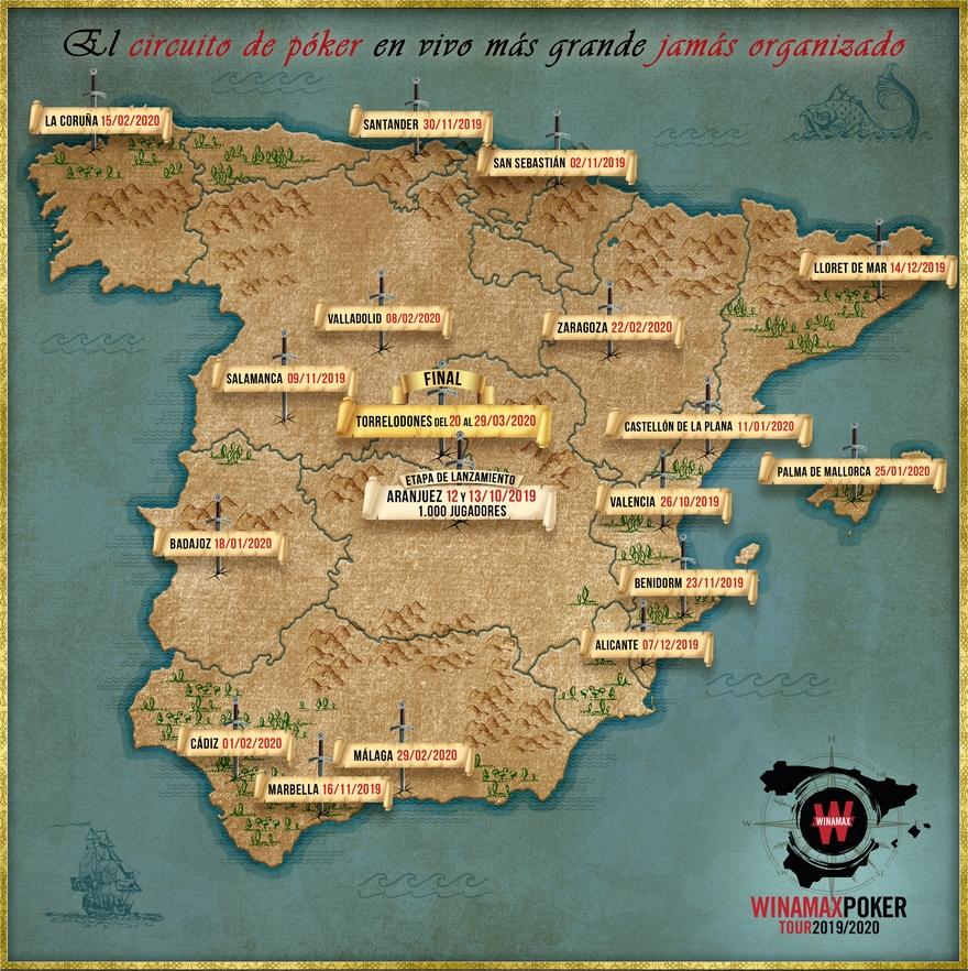 Winamax Poker Tour Espagne carte