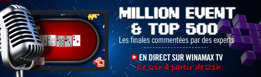 Million Event : l'épilogue en direct sur Winamax TV