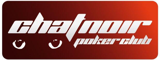 Logo chat noir poker club